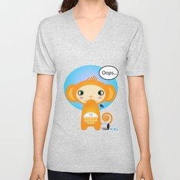 Oopsie Monkey Unisex V-Neck