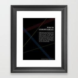 Philosophia I: What is Enlightenment? Framed Art Print