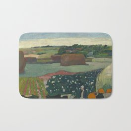 Paul Gauguin - Haystacks in Brittany Bath Mat