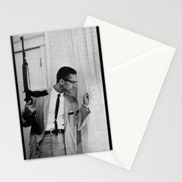 𝕻𝖔𝖓𝖙𝖊 𝕭𝖎𝖊𝖓⁻ ᴳᴱᵀ ᴿᴵᴳᴴᵀ Malcolm Little X - African American Muslim Minister 009 Stationery Cards