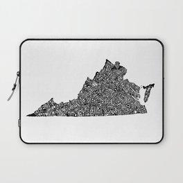 Typographic Virginia Laptop Sleeve