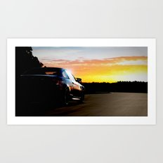 Hockenheim Sunset Art Print