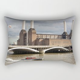 Battersea Power Station with Pink Floyd Pig Rectangular Pillow