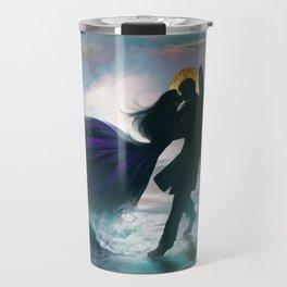 Angel romance embrace Travel Mug