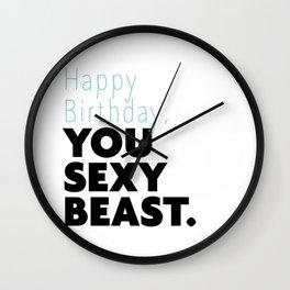 SEXY BEAST Wall Clock