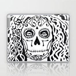 Dia de Los Muertos - black glue resist Laptop & iPad Skin