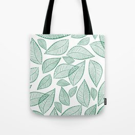 Modern abstract green glitter foliage floral Tote Bag