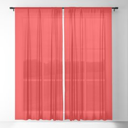Scarlet Sheer Curtain