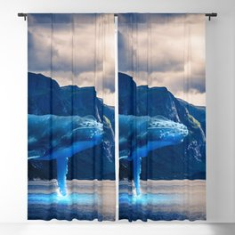 Whale Watching Blackout Curtain
