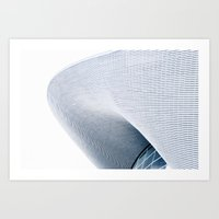 Curves and waves Art Print