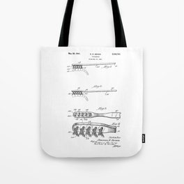 patent art Brown Toothbrush 1939 Tote Bag