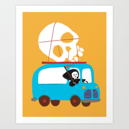 Death on wheels Art Print