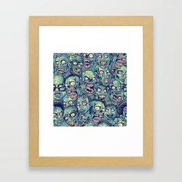 Zombie Repeatable Pattern Framed Art Print