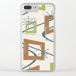 Mid Century Modern Minimalism Clear iPhone Case
