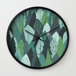 'Into the Woods' Illustration Print Wall Clock