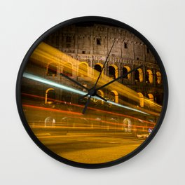 Zooming past the Colosseum Wall Clock