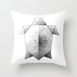 Turtle Origami Throw Pillow