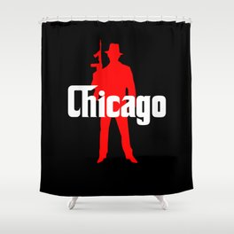 Chicago mafia Shower Curtain