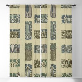 Art Nouveau Patterns Blackout Curtain