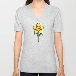 Happy daffodil Unisex V-Neck