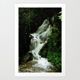 Sacred Waterfall Art Print