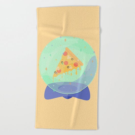 The Future is Pizza Beach Towel