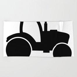 tractor Beach Towel