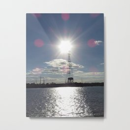 New Orleans: Sunset from the Mississippi Metal Print