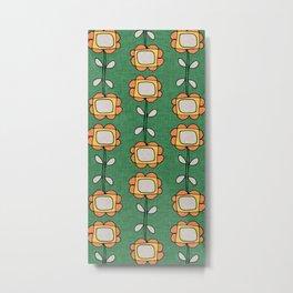 Mod Sunflower Green Metal Print