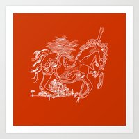 catcher in the rye Art Prints featuring The Catcher In The Rye (Red) by Jeremy Jon Myers