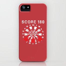180 Points Darts Arrows Dartplayer Gift iPhone Case