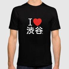 I ♥ Shibuya Mens Fitted Tee MEDIUM Black