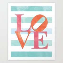 LOVE and Stripes Art Print