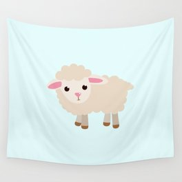 good luck sheep Wall Tapestry