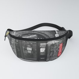 Souvenirs from Bologna Black and White Photography Street Fanny Pack