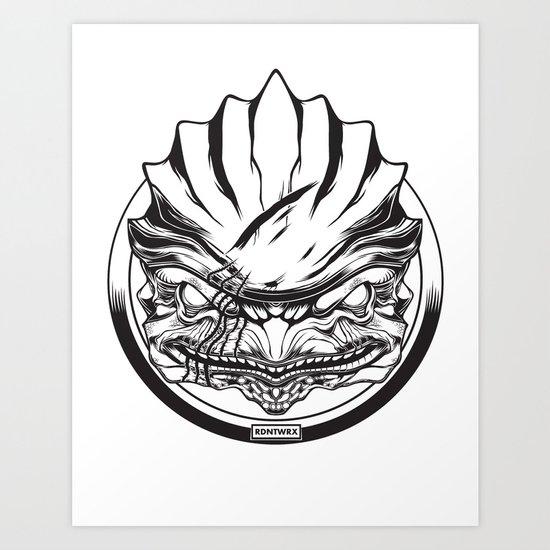 Mass Effect. Urdnot Wrex Art Print
