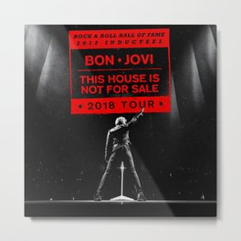 bon jovi this house is not for sale 2018 tour Metal Print