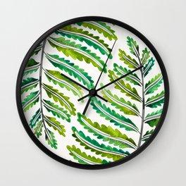 Fern Leaf – Green Palette Wall Clock