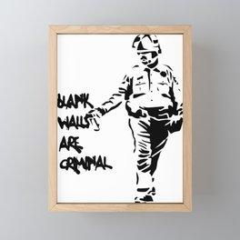 Blank Walls Are Criminal Framed Mini Art Print