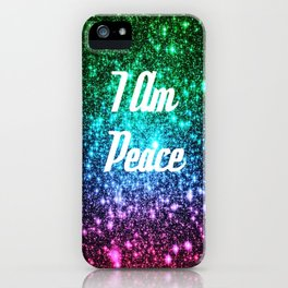 Peace Affirmation Galaxy Sparkle Stars iPhone Case