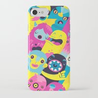 monsters iPhone & iPod Cases featuring Monsters by Lienke Raben