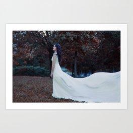Follow the white dress Art Print