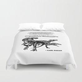 Conclusion: Dinosaurs [Black] Duvet Cover
