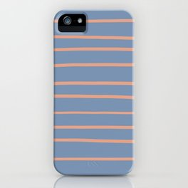 Earthen Trail 4-26 Hand Drawn Horizontal Lines on Dusky Sky 27-23 iPhone Case