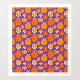 Orange Slices Art Print
