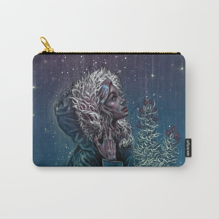 Blue Christmas Carry-All Pouch