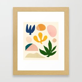 Abstraction_Floral_001 Framed Art Print