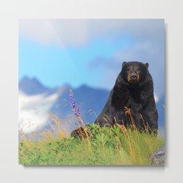 Alaskan Black Bear Metal Print