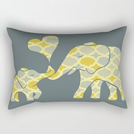 Elephant Hugs Rectangular Pillow