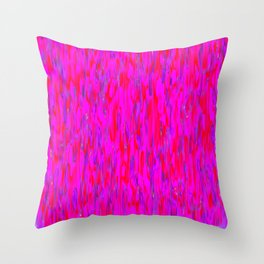 red purple verticals Throw Pillow